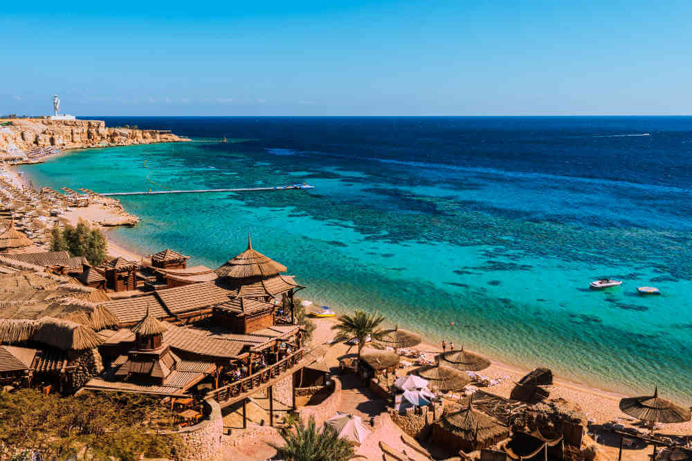 pláž na Sharm el Sheikh