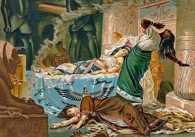 smrť Kleopatry