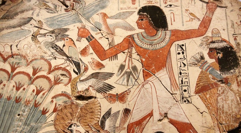 staroveká freska z egypta