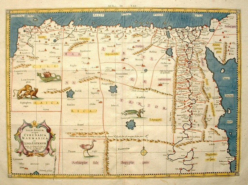 stara mapa egypta